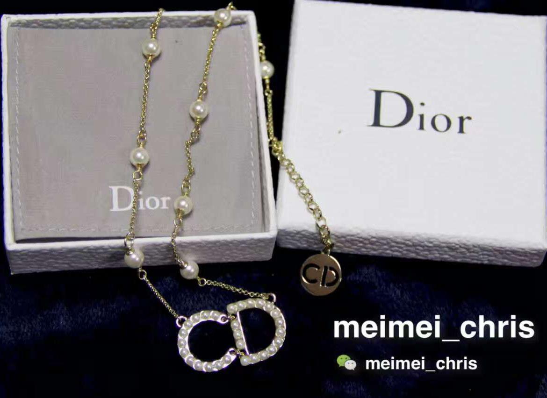 特色质感字母米珠唯美金色小项链